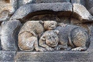 ジョグジャカルタ 夕日 プランバナン プランバナン寺院