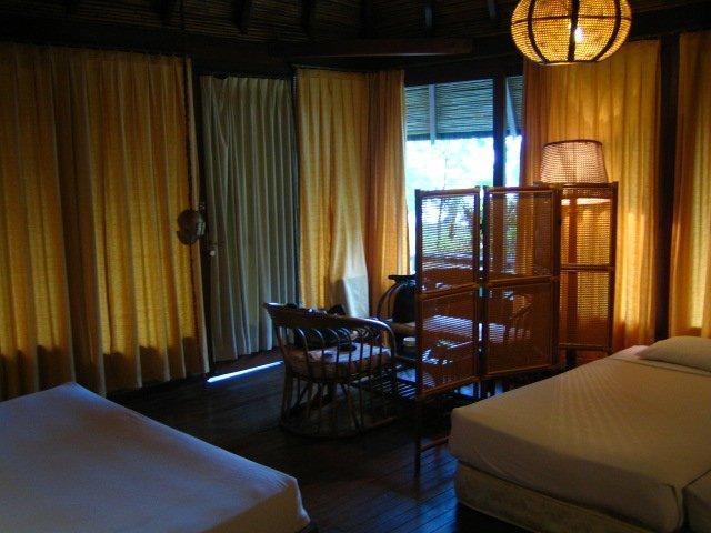 パンタラ島、部屋