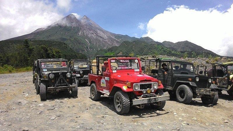 ムラピ山ジープツアー ジョグジャカルタ ツアー